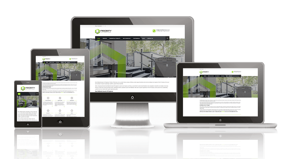 web design prices leicester responsive image of devices