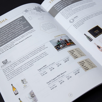 graphic design recent work marcato direct brochure spread image