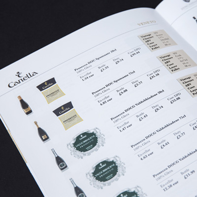graphic design recent work marcato direct brochure wine grid image