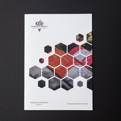 graphic design recent work marcato direct brochure front cover image